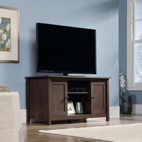 County Line Tv Stand With Adjustable Shelves Rum Walnut Sauder