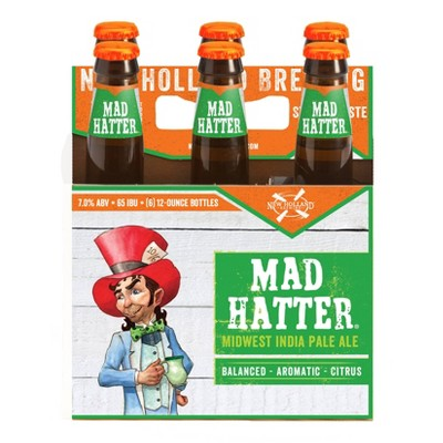 New Holland Mad Hatter Midwest IPA Beer - 6pk/12 fl oz Bottles