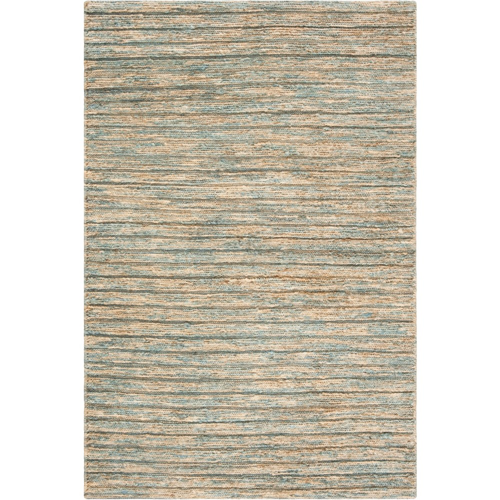 8'X10' Stripe Woven Area Rug Blue/Natural - Safavieh