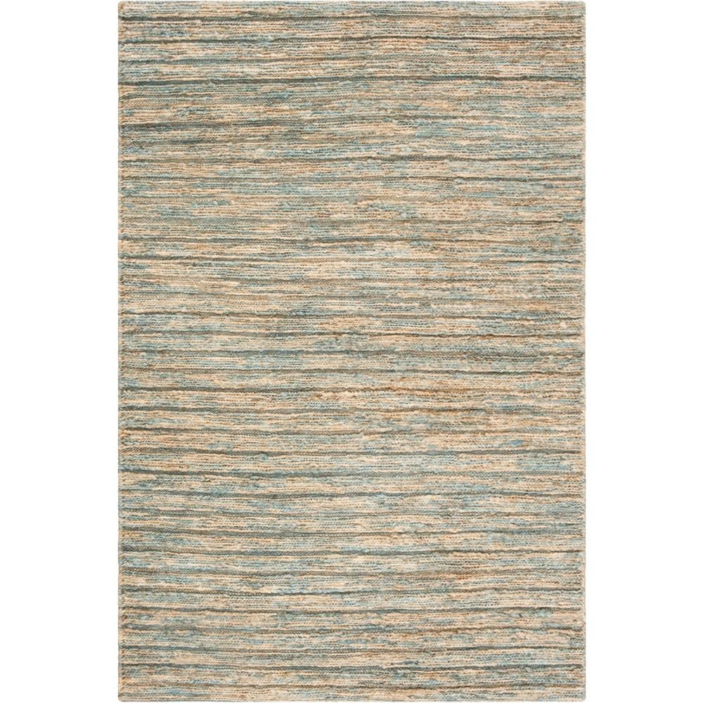 4'X6' Stripe Woven Area Rug Blue/Natural - Safavieh