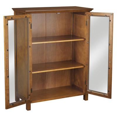 Avery Floor Cabinet Oil Oak Brown - Elegant Home Fashions