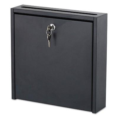 Safco Wall-Mountable Interoffice Mailbox 12w x 3d x 12h Black 4258BL