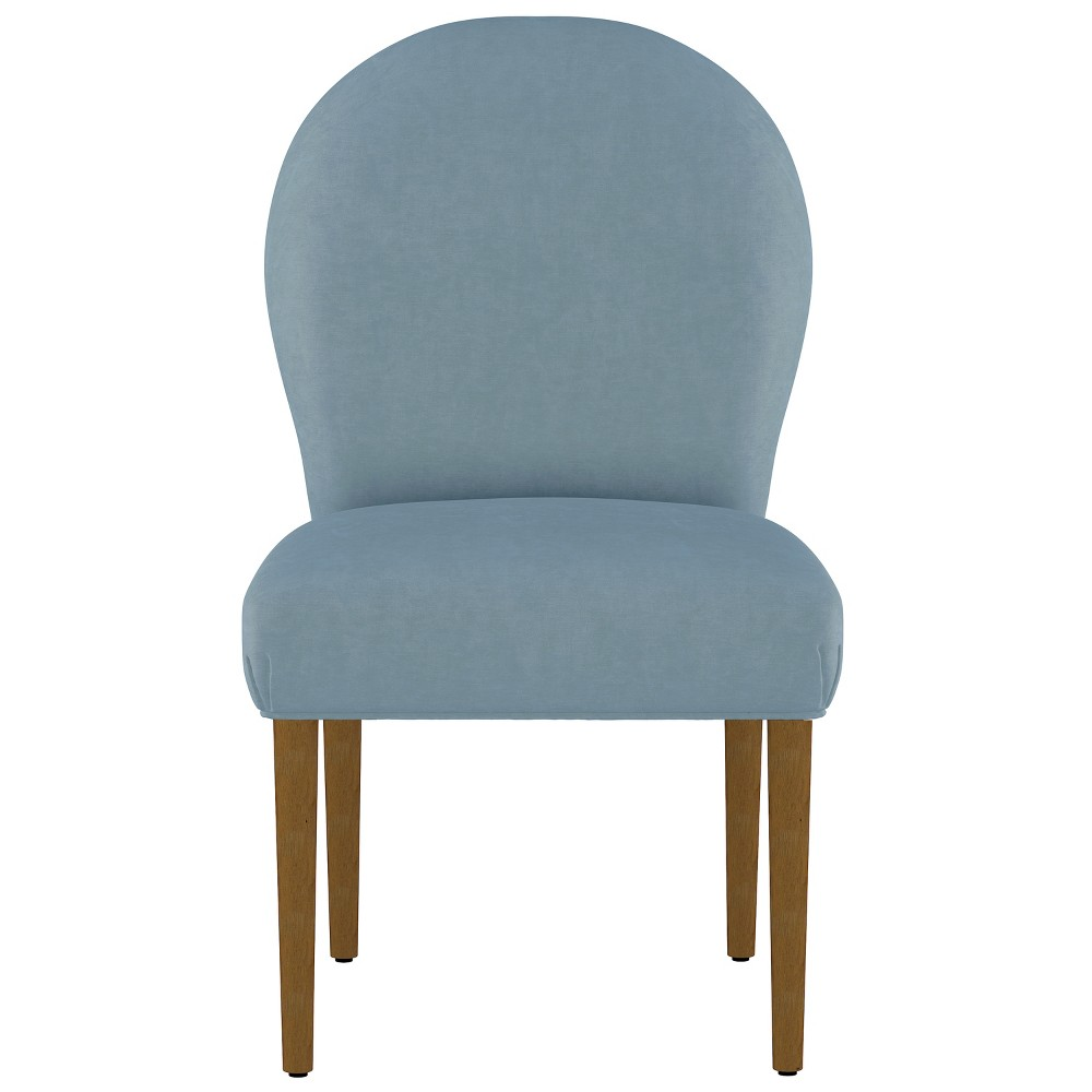 Caracara Rounded Back Dining Chair Light Blue Velvet - Opalhouse