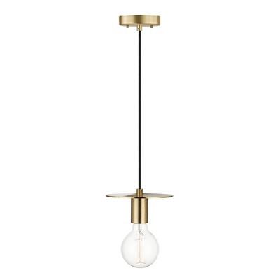 1-Light Veruca Plug-In Pendant Shade Matte Brass - Globe Electric