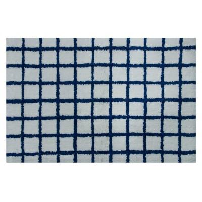 Grid Bath Rug White/Blue - Project 62™