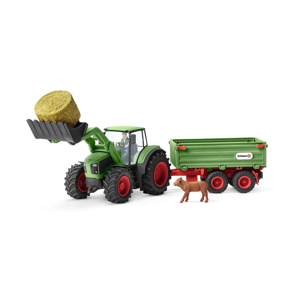 Schleich Farm World Tractor with Trailer Playset