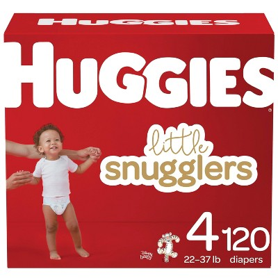 Huggies Little Snugglers Diapers Huge Pack - Size 4 (120ct)