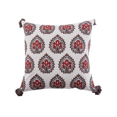 Kassandra Embroidered Medallion Decorative Pillow - Levtex Home