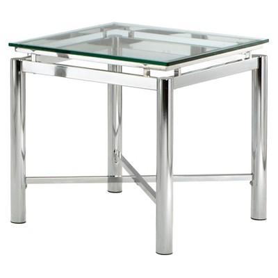 Nova End Table Chrome and Glass - Steve Silver