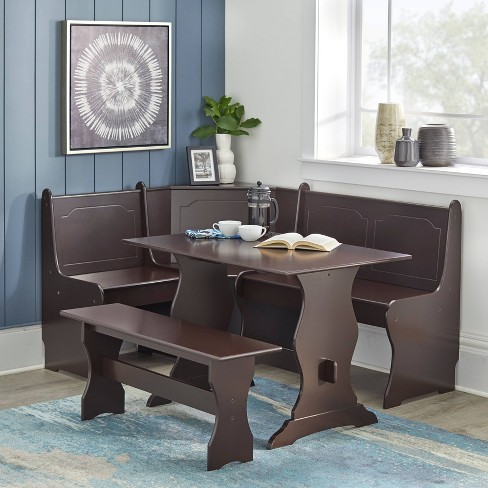 3 Piece Nook Dining Set Wood/Espresso - TMS - image 1 of 4
