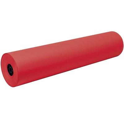Tru-Ray Art Roll, 36 Inches x 500 Feet, 76 lb, Festive Red