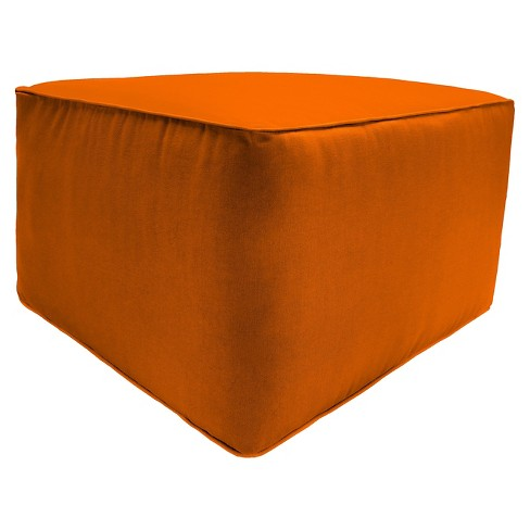 Jordan Patio Ottoman - Brown Orange - image 1 of 1