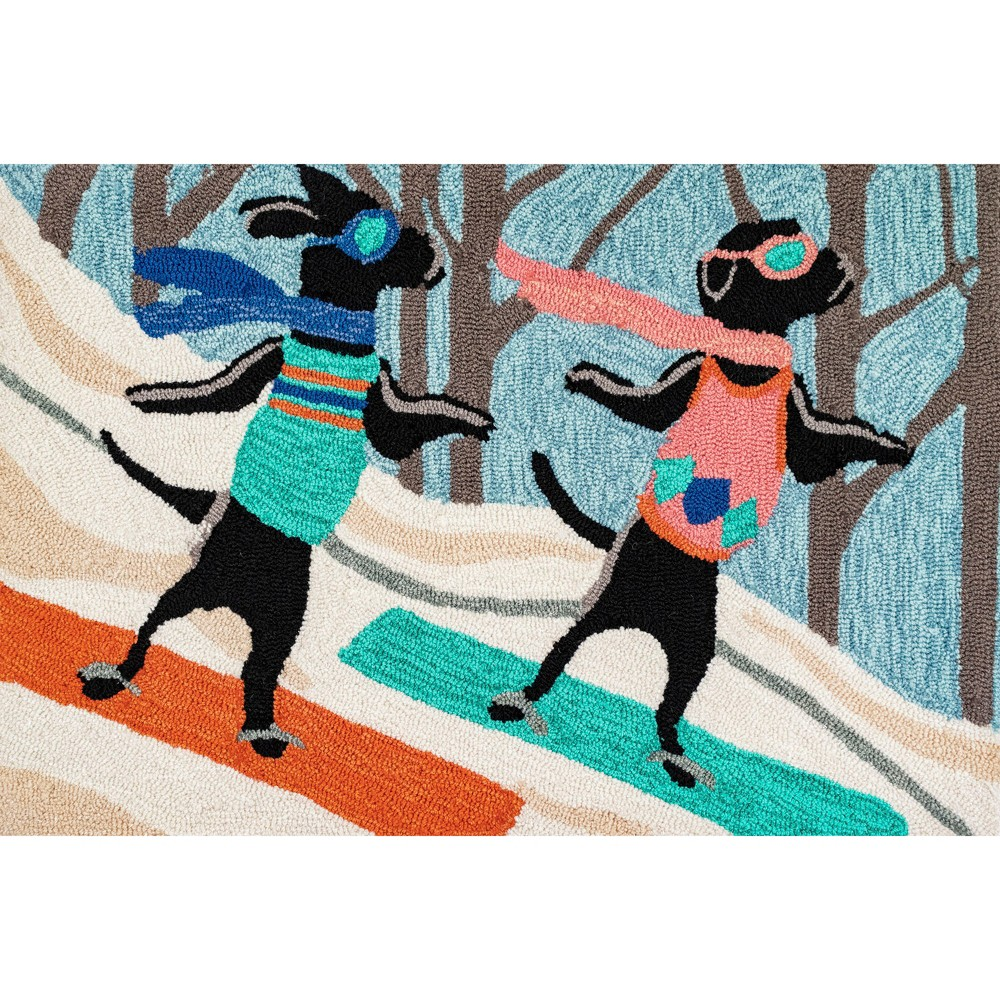 "Image of ""1'8""""X2'6"""" Dogs Tufted Accent Rug - Liora Manne, Multicolored"""