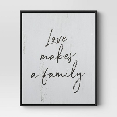 "16"" X 20"" ""Love Makes A Family"" Framed Wall Canvas - Threshold™"