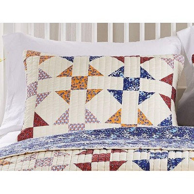 Barefoot Bungalow Savannah Quilted Pillow Sham Ivory