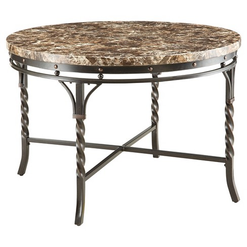 Burril Dining Table - Faux Marble and Black - Acme - image 1 of 2