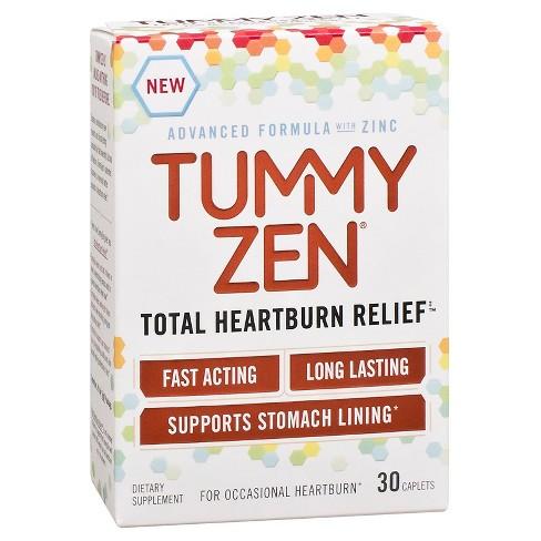 Tummy Zen Total Heartburn Relief Caplets 30 ct - image 1 of 5