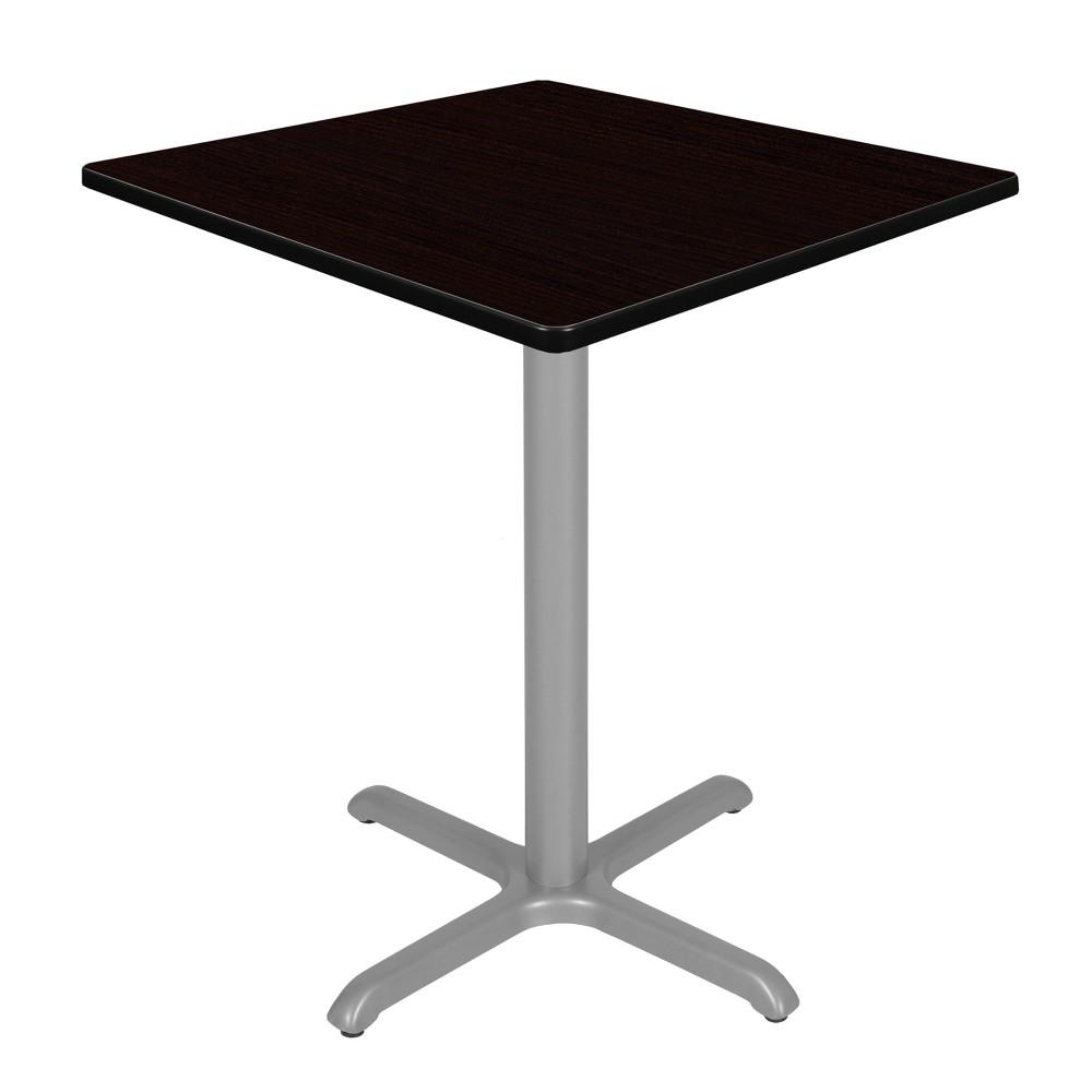 36 Via Cafe High Square X - Base Table Espresso/Gray (Brown/Gray) - Regency