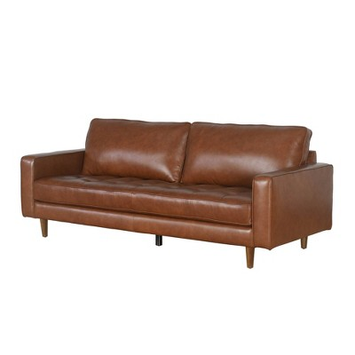 Hobbes Mid-Century Leather Sofa - Abbyson Living