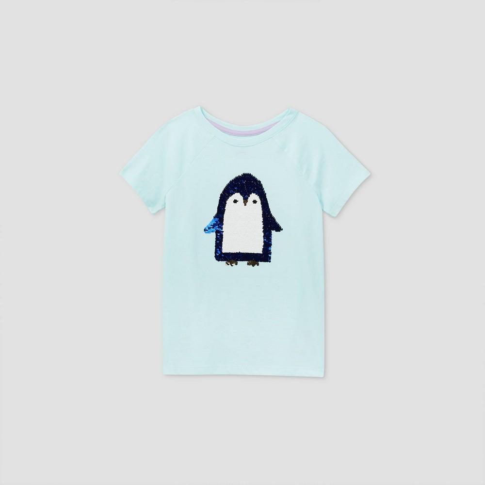 Compare Girls' Short Sleeve Flip Sequin Penguin T-Shirt - Cat & Jack™