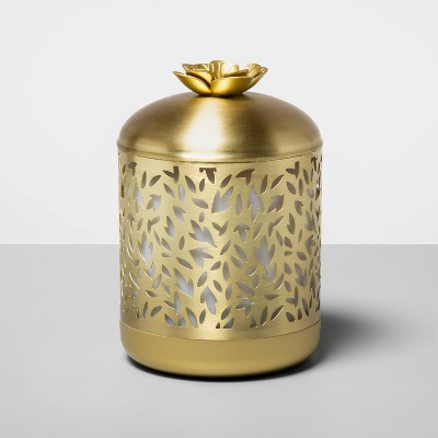 200ml Metal Flower Cutout Color-Changing Oil Diffuser Gold - Opalhouse™