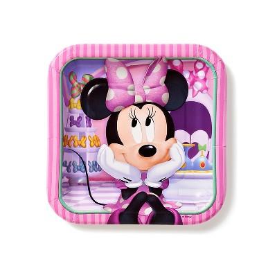 40ct Minnie Mouse Square Dessert Plates