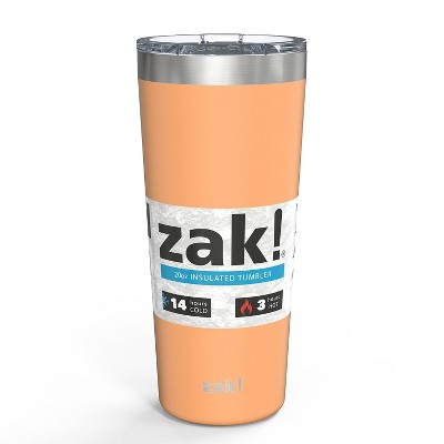 Zak! Designs 20oz Double Wall Stainless Steel Latah Tumbler - Cantaloupe