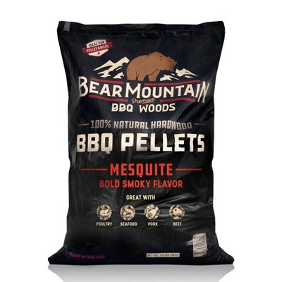 Bear Mountain BBQ FK17 Premium All-Natural Hardwood Mesquite BBQ Smoker Pellets for Outdoor Grilling, 20 lbs
