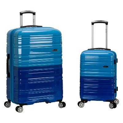 Rockland Melbourne 2pc Expandable Hardside Luggage Set - Blue/Sky Blue