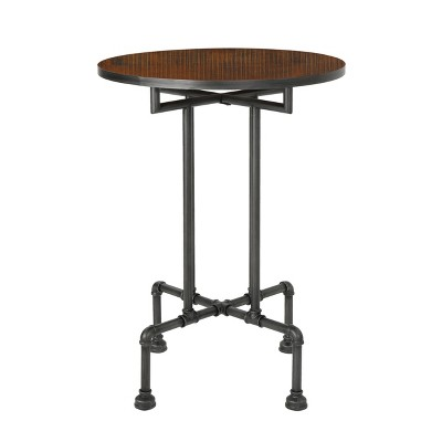 "32"" Westleigh Round Industrial Bar Table Dark Brown - Christopher Knight Home"