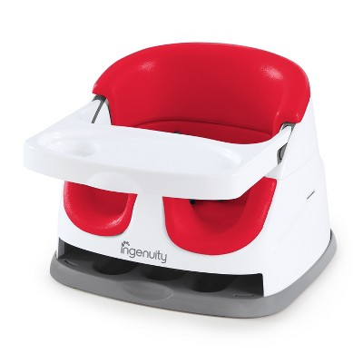 Ingenuity Baby Base 2-in-1 Booster Feeding Seat - Poppy Red