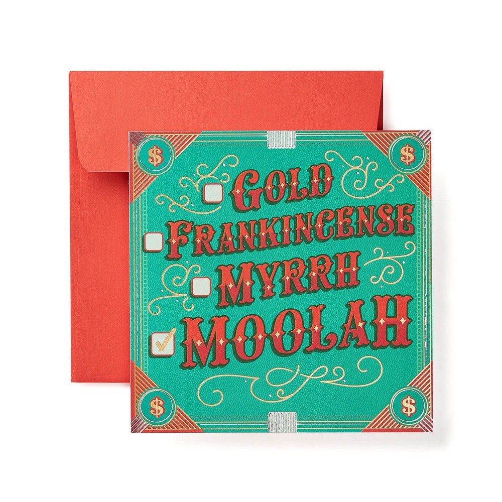 'Gold Frankincense Moolah' Card, Multi-Colored