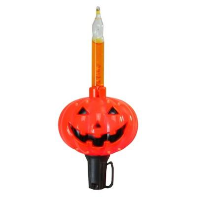 Northlight 10-Count Jack O'Lantern Halloween Bubble Light Set - 9 ft, Black Wire