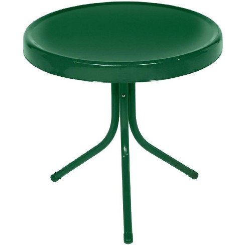 "LB International 20"" Retro Tulip Outdoor Patio Side Table - Green - image 1 of 1"