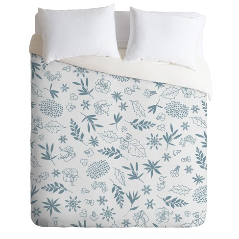 Iveta Abolina Oslo Winter Frost Duvet Cover Set Blue - Deny Designs - image 1 of 2
