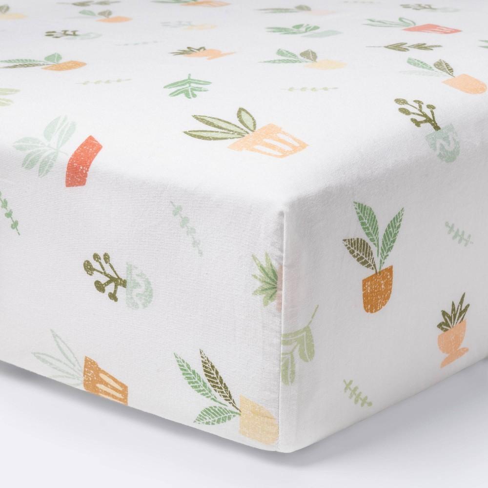 Fitted Crib Sheet Plants Cloud Island 8482