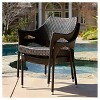 Cliff Set of 2 Wicker Patio Chairs - Multi-Brown - Christopher Knight Home - image 4 of 4