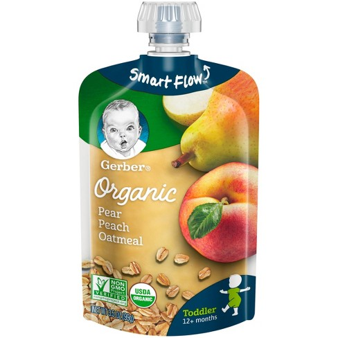 Gerber Organic 2nd Foods Baby Food, Pears, Peaches & Oatmeal - 3.5oz - image 1 of 2