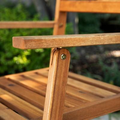 Ballidon Outdoor Arm Chairs Natural - Aiden Lane