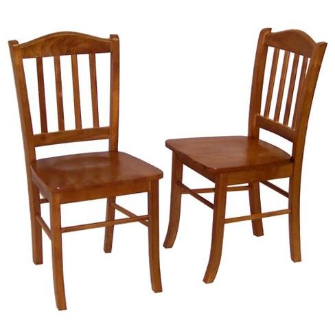 Set of 2 Shaker Dining Chair Wood/Oak - Boraam - image 1 of 4
