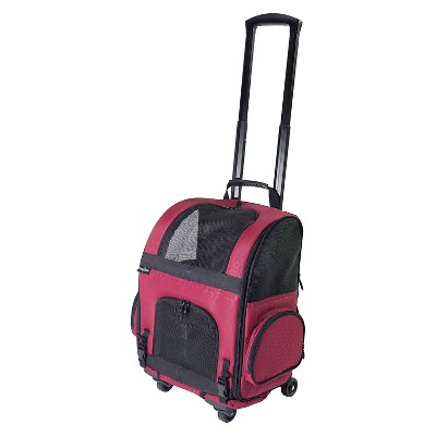 Gen7Pets Cat and Dog Roller-Carrier - M - Red Geometric