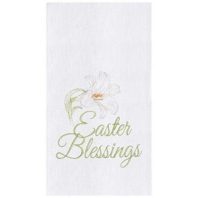 C&F Home Easter Blessing Flour Sack Embroidered Cotton Kitchen Towel