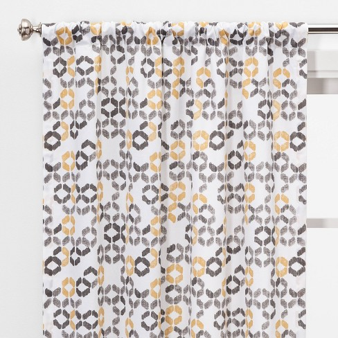 "2pc 84""x40"" Esina Light Filtering Honeycomb Window Curtain Panels Gray/Yellow - Project 62™ - image 1 of 4"