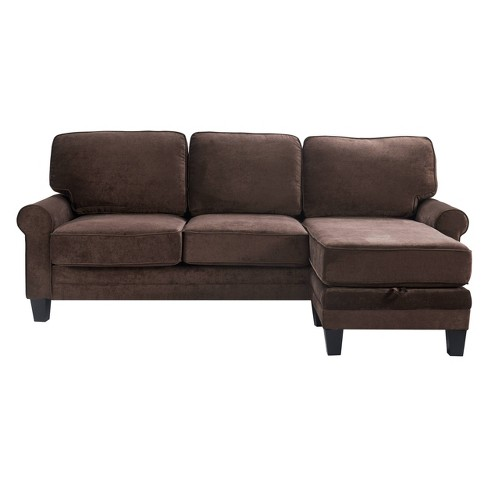 """86"""" Copenhagen Reversible Small Space Sectional with Storage - Serta - image 1 of 4"""