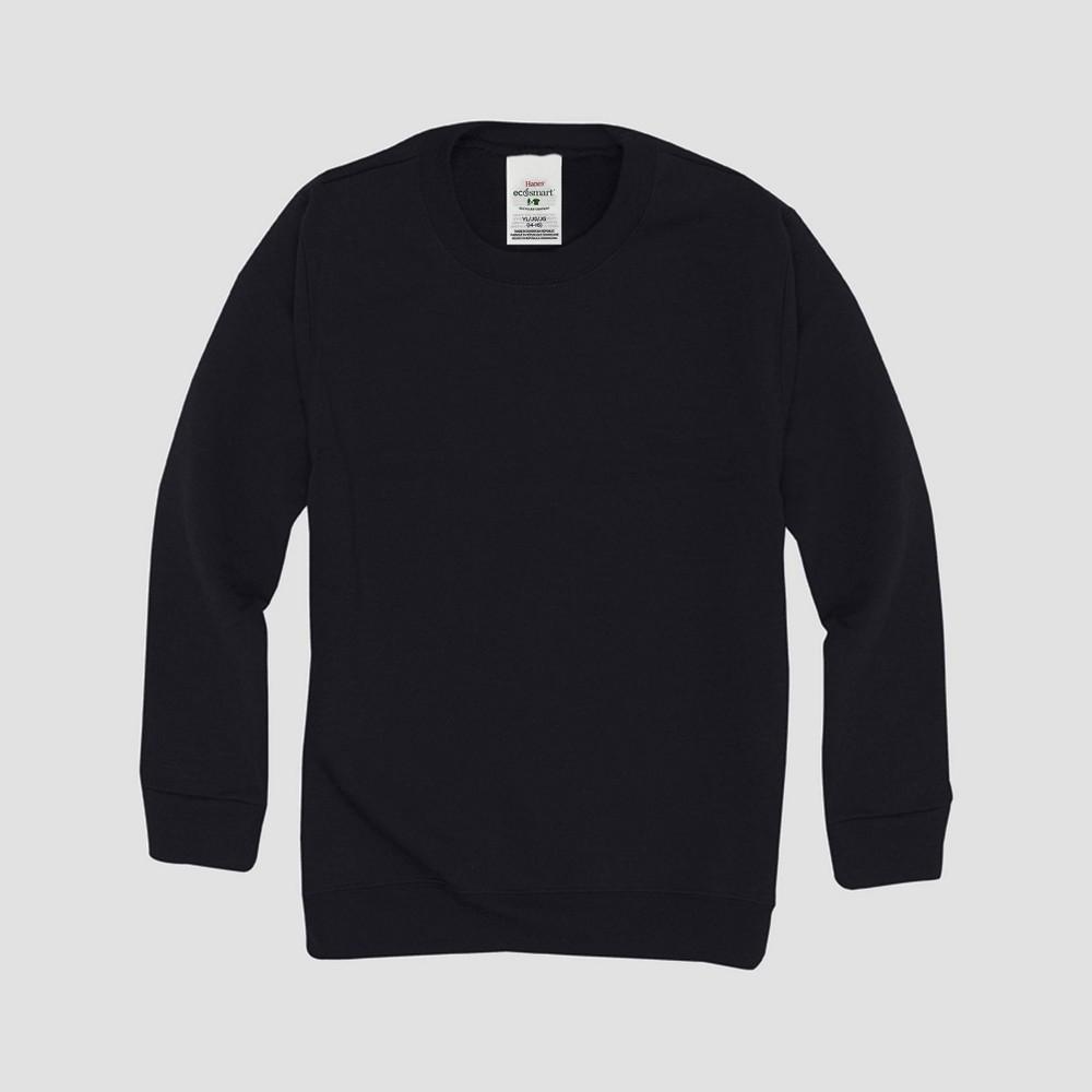 Hanes Kids 39 Comfort Blend Eco Smart Crew Neck Sweatshirt Black Xs