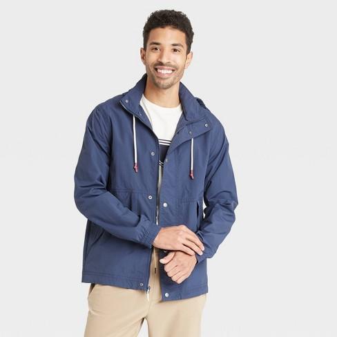 Men's Vintage Windbreaker Jacket - Goodfellow & Co™ Navy - image 1 of 2