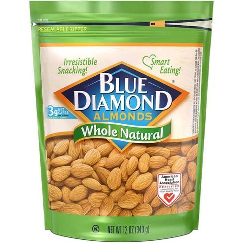 Blue Diamond Almonds Whole Natural - 12oz - image 1 of 3