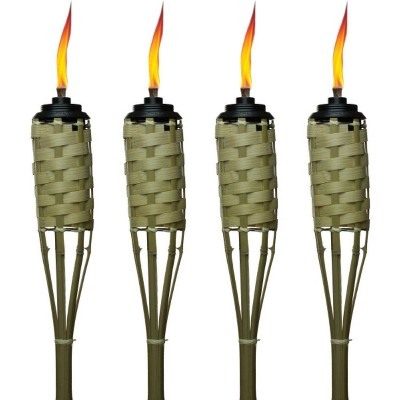 57'' 4pk Weather Resistant Coated Torch Bamboo Classic Weave - Brown - TIKI