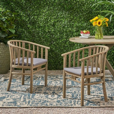 2pk Alondra Wooden Patio Dining Chairs - Christopher Knight Home