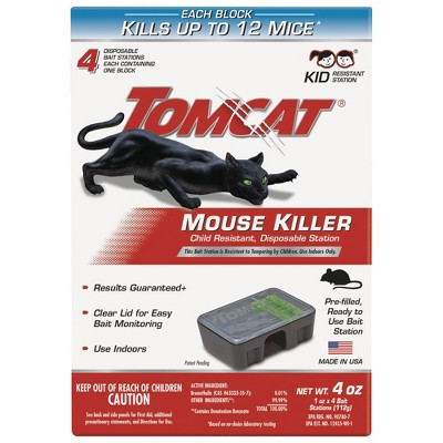 TomCat Mouse Killer II Disposable - 4ct
